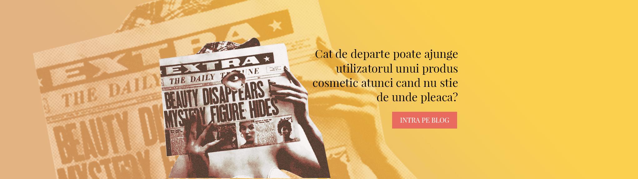 femeie citeste ziar produse dermatocosmetice
