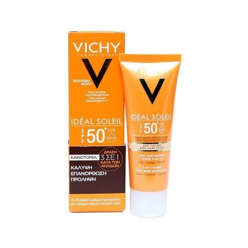 vichy ideal soleil 3 in 1 spf50